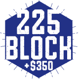 225 Block + $350 Lyons Bucks